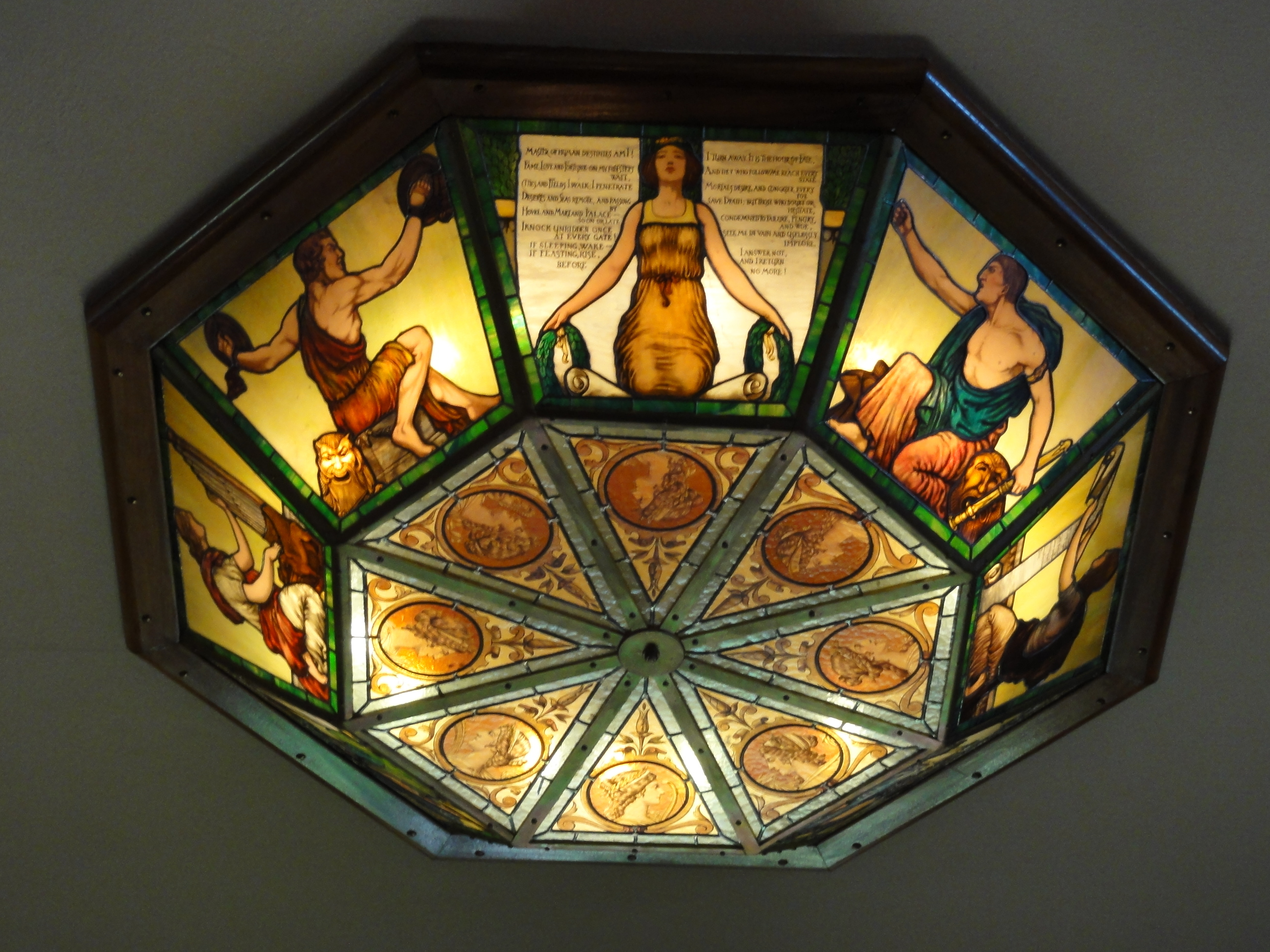 This Stained Glass Light Fixture
