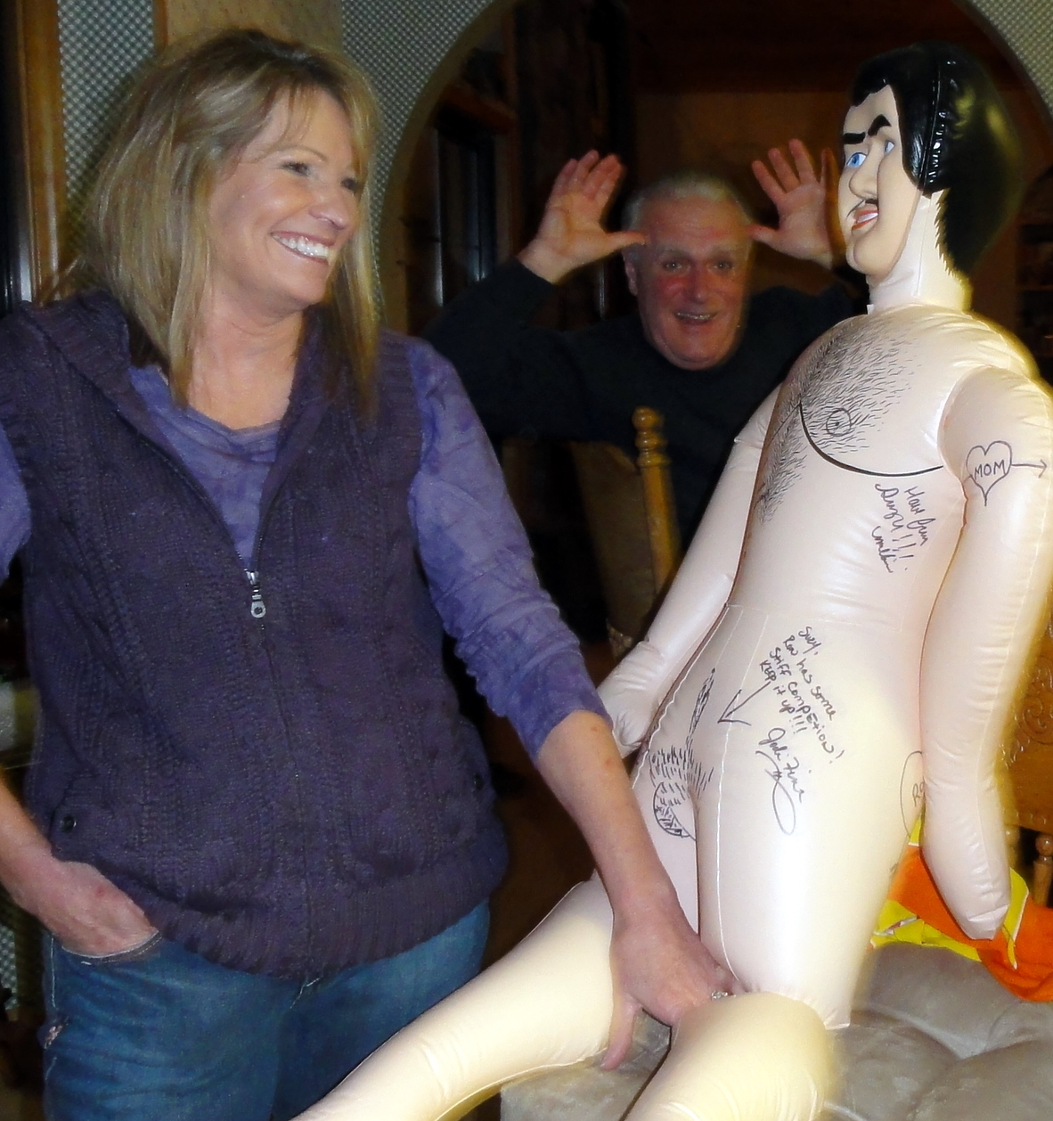 what do you do with a blow up doll
