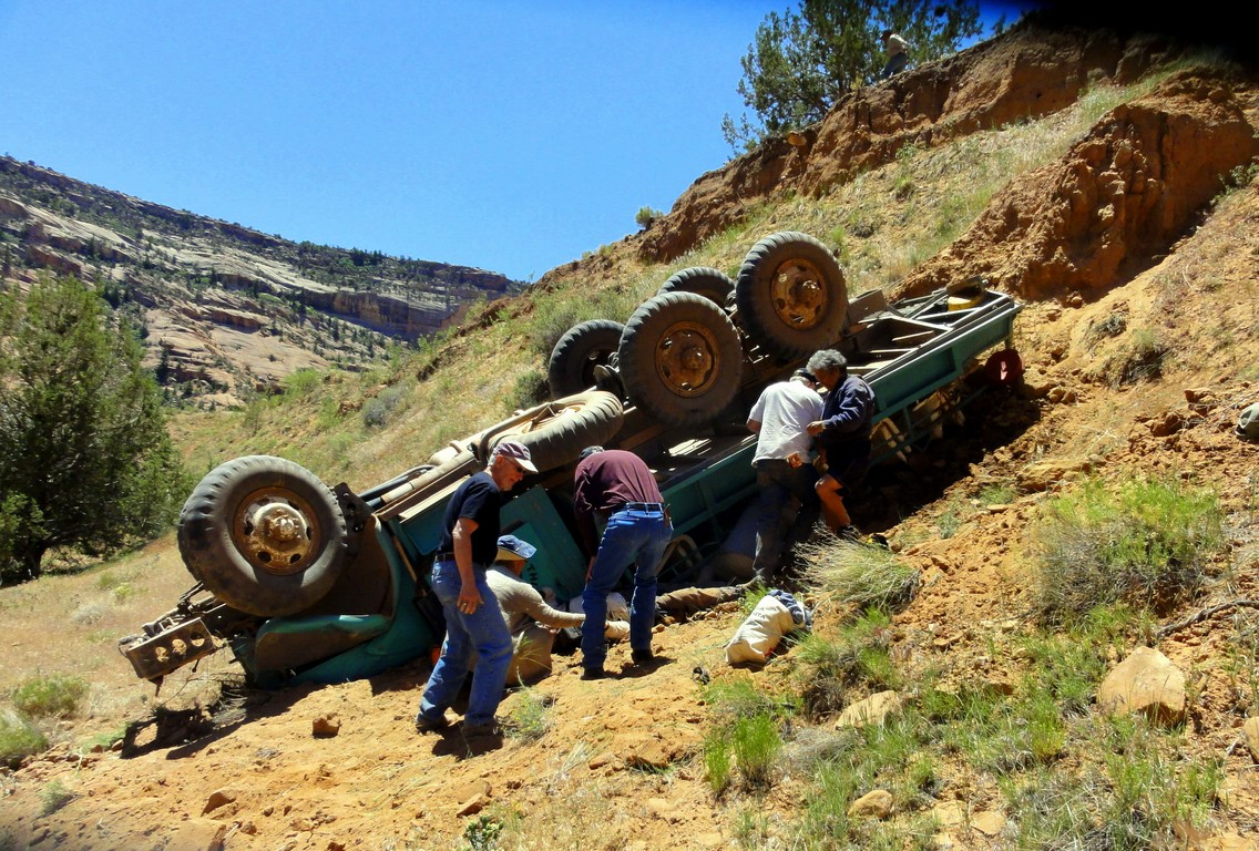 The Accident At Canyon De Chelly On The Road With Jim