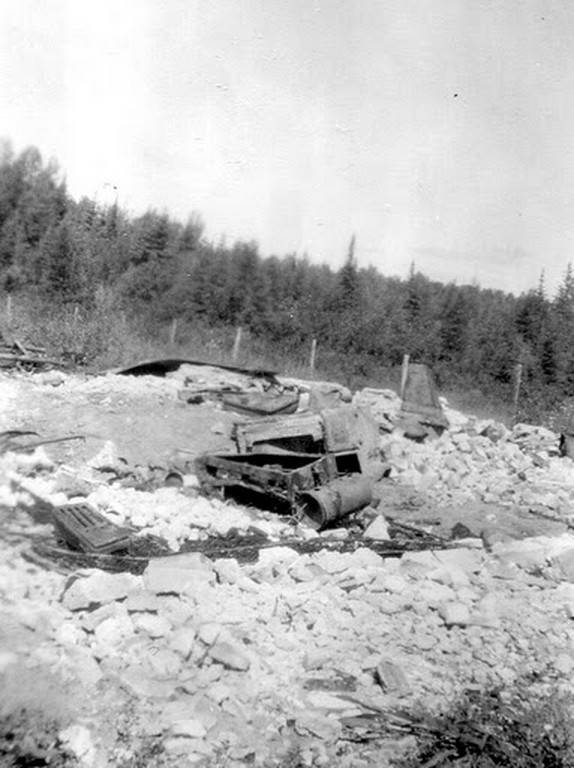 img551Ruins of the fire from earlier in the year, during spring thaw, 1949. (Copy)