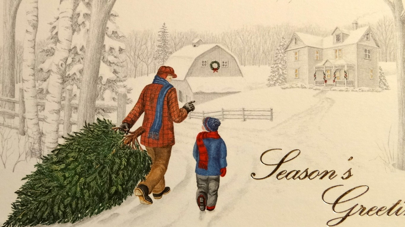 MEMORIES THROUGH CHRISTMAS CARDS   On The Road With Jim And Mary