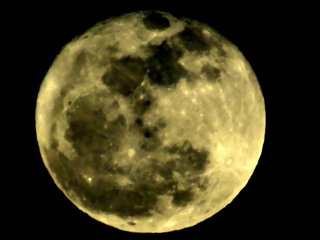 Smallest Full Moon Of 2014 Over Yuma Arizona Ramblin