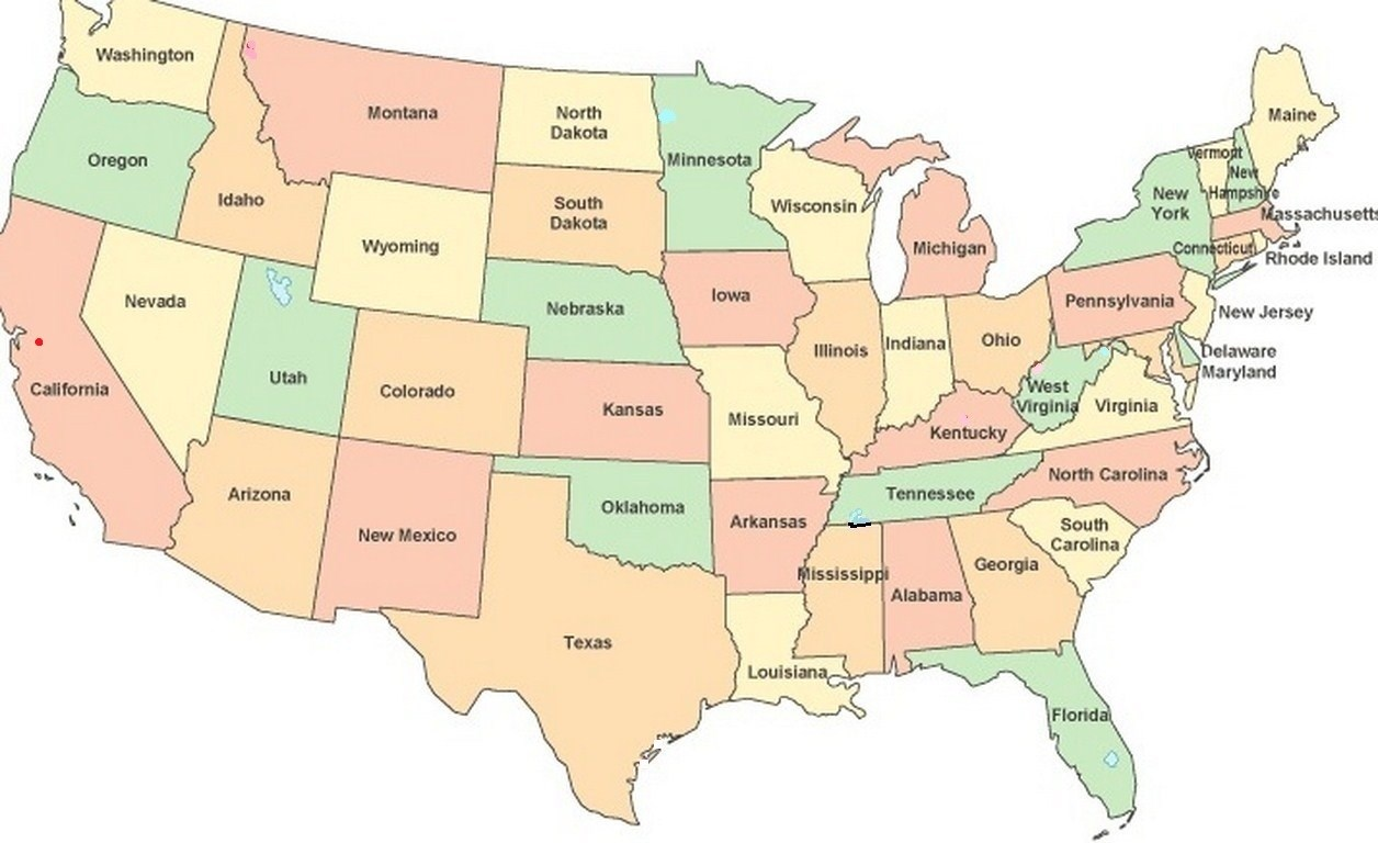 The United States Of America In Map Form Us Map Usa Map United Show Me