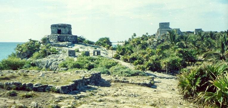 The Maya Ruins at Taum, Mexico.