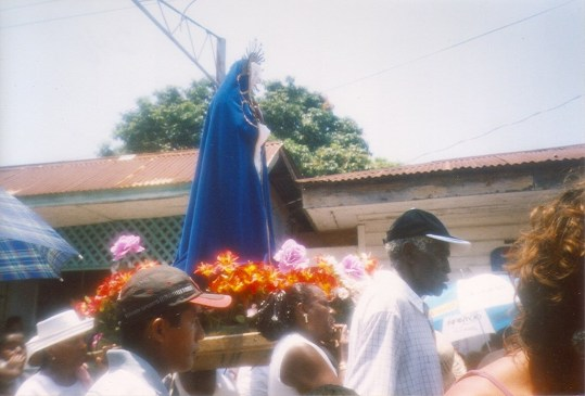 An Easter Sunday procession through Livingston, Guatemala.