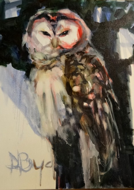 Spotted Owl-Forget Me Not, Diana Boyd