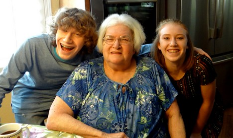 Kurt's youngest-Teddy and Alex with Gramma Toni.