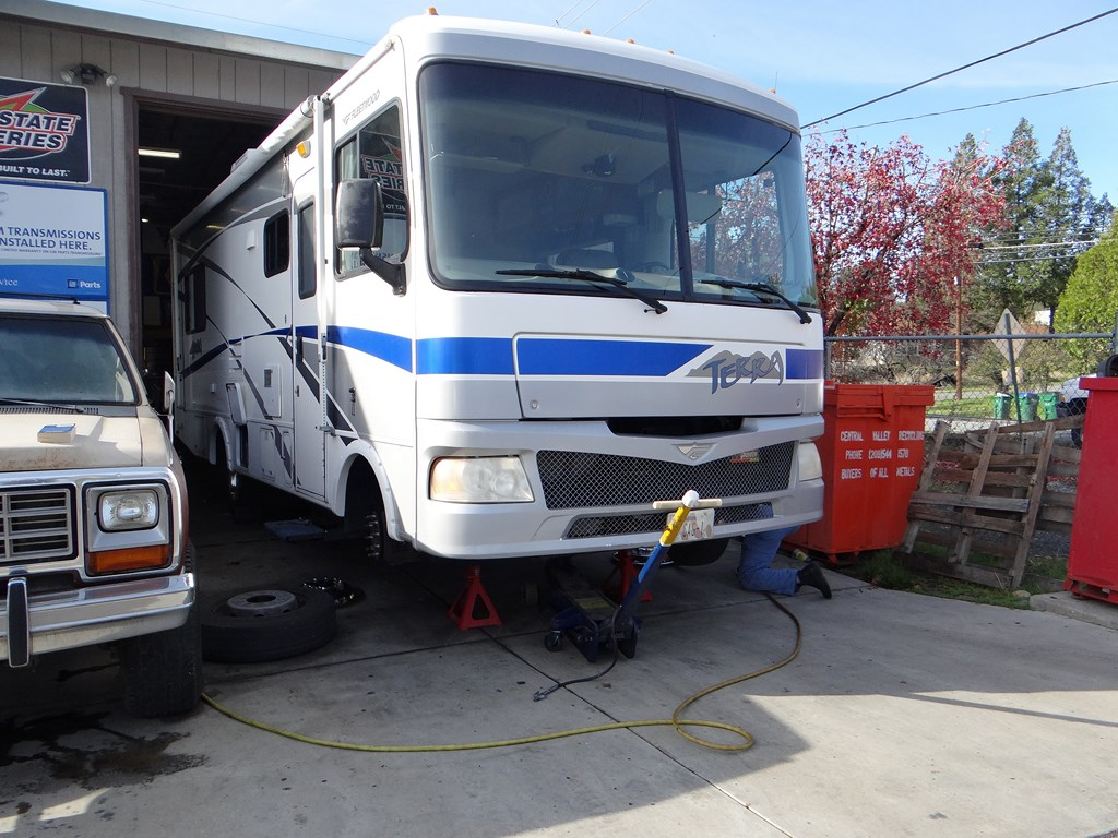 New Front Shocks And Brake Pads For The Motorhome… | On The Road